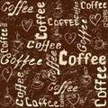 Vintage brown coffee background