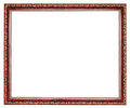 Vintage brown decorated wooden picture frame Royalty Free Stock Photo