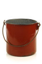 Vintage brown enamel cooking pot Stock Images
