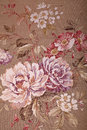 Vintage brown wallpaper with floral victorian pattern Royalty Free Stock Photo