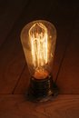 Vintage bulb style antique edison incandescent light Royalty Free Stock Photos