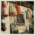 Vintage buoys Royalty Free Stock Photo