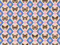 Vintage Butterfly Pattern Stock Photos