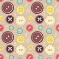 Vintage buttons sew seamless pattern