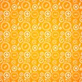 Vintage buttons sew seamless pattern in orange