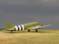 Vintage C-47 military transport aircraft Royalty Free Stock Images