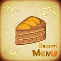 Vintage Cafe or confectionery dessert  Menu Stock Images