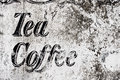 Vintage cafe sign Royalty Free Stock Photo