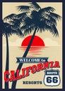 Vintage California Vector Summ...