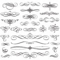 Vintage Calligraphic Design Elements Swirls Vignettes And Page D