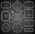Vintage calligraphic frames with design elements set of labels Stock Image