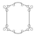 Vintage calligraphic rectangle frame with swirls Royalty Free Stock Photo