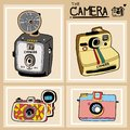 Vector of the antique camera design