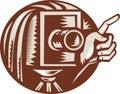 Vintage Camera Hand Pointing Retro Royalty Free Stock Photo
