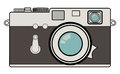 Vintage camera illustration of analog with rangefinder Royalty Free Stock Photos