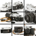 Vintage Camera Montage Stock Photography
