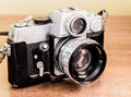 Vintage camera old antique lifestyle background Royalty Free Stock Photography