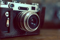 Vintage camera with a tone preset Royalty Free Stock Image