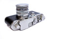 Vintage camera on white background Royalty Free Stock Images