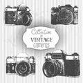 Vintage cameras Royalty Free Stock Photo