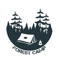 Vintage camping and outdoor adventure logo