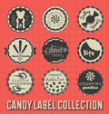 Vintage Candy Labels and Icons Royalty Free Stock Image