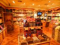 Vintage candy store retro interior of a sweets shop Royalty Free Stock Images