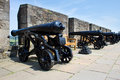 Vintage cannon at stirling castle scotland Stock Photography