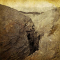 Vintage Canyon Photograph Royalty Free Stock Photo