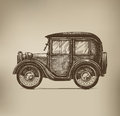 Vintage car authors illustration in vector Royalty Free Stock Photo