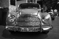 Vintage car auto union berlin may black and white the th berlin brandenburg oldtimer day Stock Images