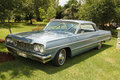 Vintage car chevrolet impala coupe rustenburg south africa – february blue drivers side view in private collection philip Royalty Free Stock Photography