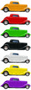 Vintage Car Coupe Stock Images
