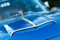 Vintage car detail air intake bonnet Stock Photography