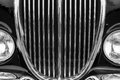 Vintage car detail with black color Royalty Free Stock Photo