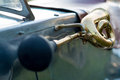 Vintage car detail - horn Royalty Free Stock Photo