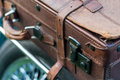 Vintage car detail - suitcase Royalty Free Stock Photo
