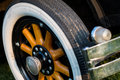 Vintage car detail - wheel Royalty Free Stock Photo