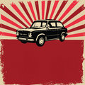 Vintage car flyer Royalty Free Stock Images