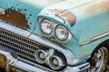 Vintage car headlights Royalty Free Stock Photo