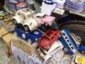 Vintage car models on flea market in Old Yaffo (Jaffa, Yafo), Israel
