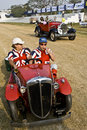 Vintage car rally in India Royalty Free Stock Photography