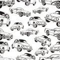 Vintage Car Seamless Pattern, ...
