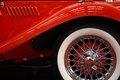 Vintage car spoke wheel Royalty Free Stock Photo