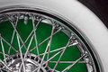 Vintage car spoke wheel Royalty Free Stock Photo