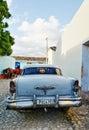 Vintage car in Trinidad, Cuba Royalty Free Stock Photo