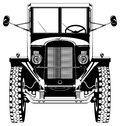 Vintage car vector retro isolated on white black and white illustration Stock Images