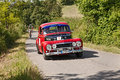 Vintage car volvo pv sport a runs in rally for classic cars coppa cittá di meldola on june in meldola fc italy Stock Photography