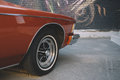 Vintage car wheel close-up Royalty Free Stock Photo