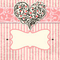 Vintage card with abstract heart Stock Image